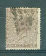 BELGIE - OBP Nr 19A - Leopold I Profiel - Gest./obl. - Cote 11,50 € - 1865-1866 Profile Left