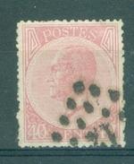 BELGIE - OBP Nr 20A - Gestempeld/oblitéré - Cote 22,00 € - 1865-1866 Profile Left