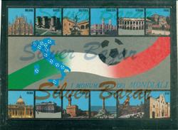 CAMPIONATO MONDIALE DI CALCIO  ITALIA 90 -I MONUMENTI DEI MONDIALI-CAGLIARI-UDINE-BARI-PALERMO-VERONA-MILANO-NAPOLI-ROMA - Calcio