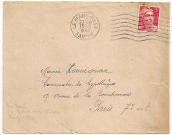 PAS De TAXE, CONFUSION DU 3F GANDON Avec 5F Rose ? (Tarif 4F50) LE MANS GARE Sarthe. - Postmark Collection (Covers)