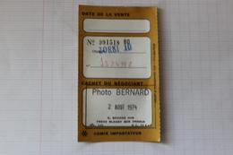 Ancien Papier Appareil Photo Vendu A BLANGY SUR BRESLE  PHOTO BERNARD 9 GRAND RUE  TELEPHONE 125 - France