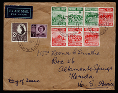 A4353) Australia Australien Airmail Cover From Magill 4.2.53 - 1952-65 Elizabeth II: Dezimalausgaben (Vorläufer)