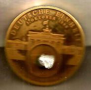 Muro Di Berlino 3.10.1990, Medaglia Mm. 50, Vermeil FS Con Autentico Frammento, Certificato Di Garanzia Gode Numero 9487 - Germania