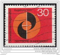 Germany 1971, Ecumenical Congress In Augsburg, Used - [7] Federal Republic