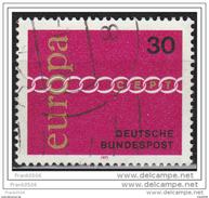 Germany 1971, Europa, 30pf, Used - [7] Federal Republic