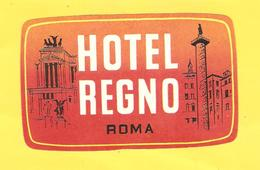 Old Hotel Label - Italia, Roma, Hotel Regno - Other Collections