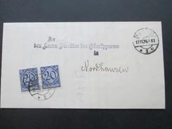 Deutsches Reich Dienst 1920 Nr. 26 MeF Schul Collegium Der Provinz Sachsen / Direktor Des Oberlyzeums - Service
