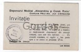 Romania - Raul Alb - Jud. Dambovita - 1946 - Invitatie La Bal - Other