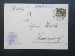 Deutsches Reich Dienst 1927 Nr. 105 EF Als Drucksache Sächs. Amtsgericht Chemnitz.  Fahrradfabrikant Viktor Friedrich - Dienstpost