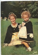 Chateauneuf Du Faou - Mère Et  Fille En Costume Du Pays (couleurs De Bretagne N°1487) - Châteauneuf-du-Faou