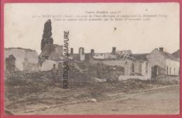 59 - MORTAGNE--La Route De Files-Mortagne Et Emplacement Du Monument - Autres Communes