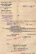 VP6783 - Lettre De La Préfecture De Police 17ème Secteur D.P à PARIS - Police & Gendarmerie