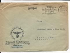 1943 - ENVELOPPE FELDPOST (EQUIPEMENT/ARMEMENT) De ERFURT => THANN - Allemagne