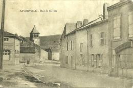 54 Meurthe Et Moselle  BAYONVILLE Rue  De Méville   Voyagée - Autres Communes