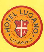 Old Hotel Label - Switzerland, Lugano, Hotel Lugano - Altri