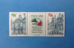 1985 ITALIA FRANCOBOLLI NUOVI IN TRITTICO STAMPS NEW MNH** - ARTE BAROCCA - - 1946-.. Republiek