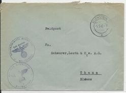 1942 - ENVELOPPE FELDPOST (HOPITAL De RESERVE - LAZARETT) De ALLENSTEIN (PRUSSE ORIENTALE) => THANN - Allemagne