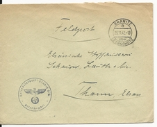 1942 - ENVELOPPE FELDPOST (HOPITAL De RESERVE - LAZARETT) De BRANITZ ü. LEOBSCHÜTZ (HAUTE SILESIE - POLOGNE) => THANN - Allemagne