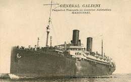 Bateaux - Paquebots - Général Galieni - Paquebot Français Ex Courrier Autrichien Marienbal - Bon état - Piroscafi