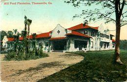 Cpa THOMASVILLE GA, Mill Pond Plantation - Flag Cancel 1913 - Vereinigte Staaten