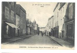 Cpa Lempdes - La Grande Rue ( Route Nationale ) - France