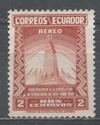 Ecuador 1939. Scott #C80 (M) Empire State Building And Mountain Peak * - Equateur