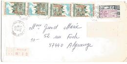 AFFRANCHISSEMENT COMPOSE SUR LETTRE RECOMMANDEE DE VILLEJUIF (VAL DE MARNE) 1975 - Marcophilie (Lettres)