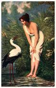 Tableau 99, Femme Nue Dans L'art - Schweninger, Cigogne - Paintings
