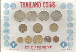 Thailand, Souvenir Set Of 25 Differents Coins. - Monete