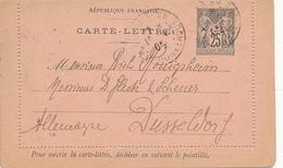 DUNKERKQUE - 1902 , CARTE-LETTRE Nach Düsseldorf - Ganzsachen