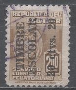 Ecuador 1951. Scott #RA61 (U) Consular Service Stamp * - Equateur