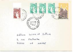 AFFRANCHISSEMENT COMPOSE SUR LETTRE DE VALLIERES (HAUTE SAVOIE) 1980 - Marcophilie (Lettres)