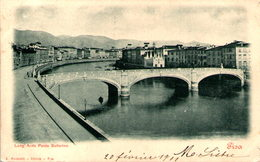PISA - Lung' Arno Ponte Solferino - Pisa