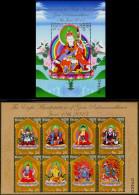 BUDDHISM-8 MANIFESTATIONS OF BUDDHA-SOUVENIR SHEET WITH MS-BHUTAN-LIMITED ISSUE-MNH-SCARCE-BMS-43 - Bhután