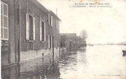60 - COMPIEGNE - 22 - Crue De L'Oise Mars 1910 - Chemin Du Contre-halage - Circulé 1918 - Bon état - Compiegne