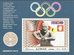Ajman 1969 Mi# Block 98 B ** MNH - Imperf. - Boxing / Summer Olympics, Mexico '68 - Sommer 1968: Mexico