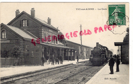 02 - VIC SUR AISNE - LA GARE - Vic Sur Aisne