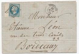 - Lettre - HQAUTE GARONNE - TOULOUSE - ¨PC.3383 S/TPND Napoléon III N°14 Luxe Avec Bord De Feuille Et 3 Voisins - 1858 - 1853-1860 Napoleone III
