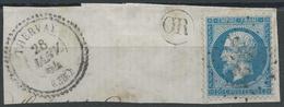 Lot N°33744   N°22/grand Fragment, Oblit GC 3931 THERVAY (38), Ind 12, Cachet Perlé, OR Dans Un Cercle - 1862 Napoleone III