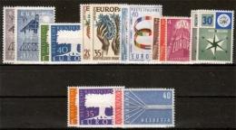 Europa Cept Jahrgang 1957 ** - Europa-CEPT