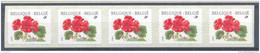 OCB Nr 2854 R91 Flora Geranium Strip 5 Bande MNH !!!! - Rouleaux
