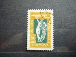 Lithuania Lietuva Litauen Lituanie Litouwen 1921 Used # Mi.112  Allegory Of Flight. Airmail