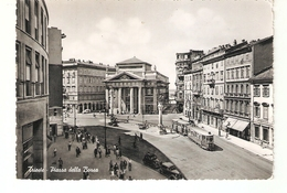 CT-N-01937-  TRIESTE- PIAZZA DELLA BORSA-ANIMATISSIMA-TRAM-AUTO EPOCA-VIAGGIATA 1956 - Trieste