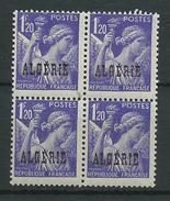 Timbre Algérie Iris YT N°232 Neuf ** Bloc De 4 - Algérie (1924-1962)