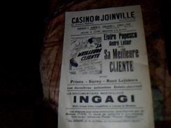 """Vieux Papier Tract Affichette Casino De Joinville Piece Theatrale """" Sa Meilleure Cliente"""" Annee ?? - Théatre & Déguisements"""
