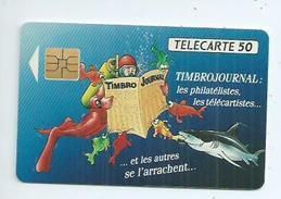 Télécarte 50 Unités. Timbrojournal Les Philatélistes ,les Télécartistes Et Les Autres Se L'arrachent - France