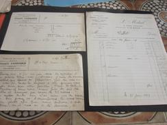 1929 Tissage Mécanique Joseph Carrabin VEYRINS Isère Facture Document Commercial France L. Médail Couture Vallet Valence - 1900 – 1949