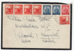 Italy Letter Cover Travelled 1949 Galatina Lecce To Klagenfurt Bb161210 - 6. 1946-.. Repubblica