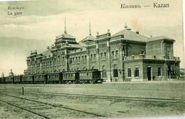 CPA KAZAN( Russie) La Gare (trains) Union Postale Universelle Russie Non Ecrite - Russie