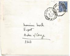 AMBULANT DE MONT DORE à LAQUEIULLE DU 19/2/1952 - Marcophilie (Lettres)